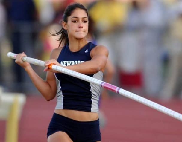 Allison Stokke takes viewers over the bar in wild pole